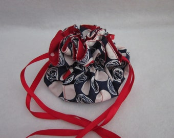 Lots of Dots Red, White and Blue Jewelry Pouch