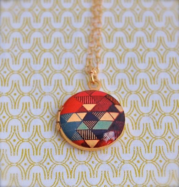 Mini Art Locket The Color Study II Alyson Fox Design