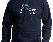 Be Rational Get Real Mens Funny Math Nerd HOODIE (Navy Blue- White Ink) SMALL-XXL