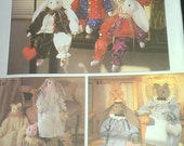 Cat and Bunny Dolls with clothes Simplicity 9336