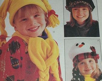 Kid Size Fleece Hats Ski McCalls 8513