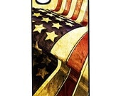American Flag Custom iPhone Case Fits 4 And 4s Black Or White - unique iphone cases - hhprint
