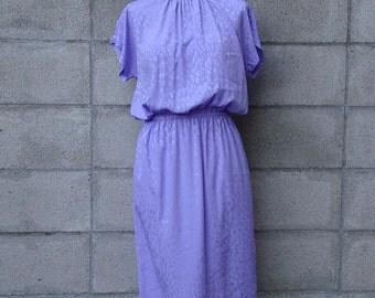 Vintage 1980s Dress Purple