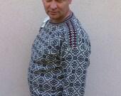 Men sweater Estonian fishermen in traditional style