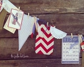 fourth of july junque burlap and fabric banner