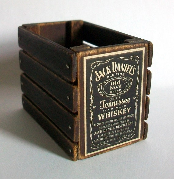 Miniature Jack Daniel's Whiskey Crate (1 inch dollhouse scale)