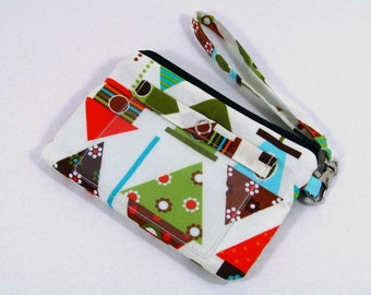Bird house small id wristlet - id holder , Coin purse , Cell phone holder -- On sale