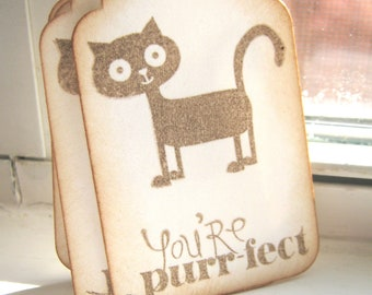You're purrfect gift tags, cat gift tags