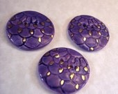 Reserved for RoxeMarie Purple scallops coat button