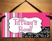 Posh Girl Teen DOOR SIGN Kids Bedroom, Playroom Wall Art Decor DS0137
