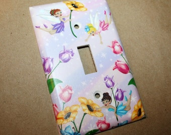 Fairy Girls Bedroom Single Light Switch Cover LS0019