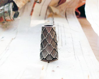 Layered Cone Dreadlock Bead Accessory Extension Accessories Scales Cone Dread Boho Bohemian Hippie Silver
