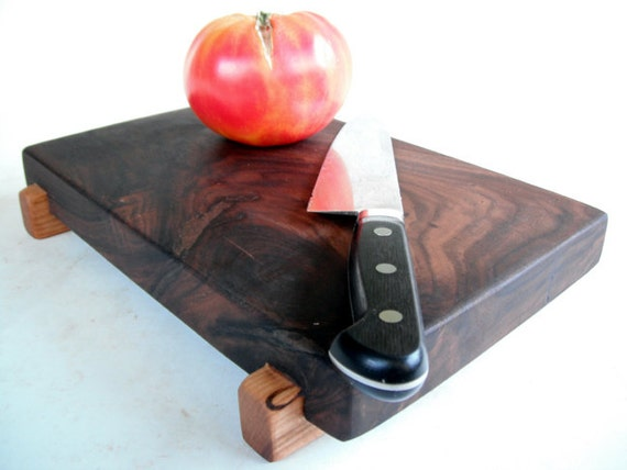 thick reclaimed local black walnut serving/cutting board