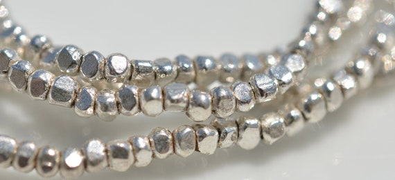 Fine Silver 2mm Faceted Beads