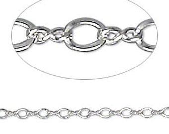 Sterling Silver Figure 8 Chain -2.3mm - 5 feet