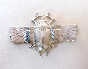 As-Is Sale X Large egyptian winged SCARAB beetle embellishment pendant  68mm x 45mm (FF21)