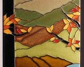 For Emily  Tiffany Tree - Fall Palette- Unframed