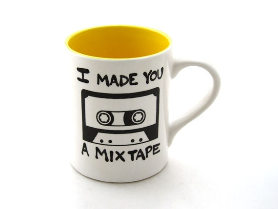Mix tape DIY Custom Mug  personalized custom gift great for valentines day
