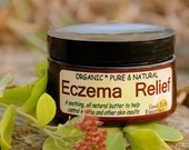 Organic Eczema Relief OINTMENT - 4 oz, with Calendula and Seabuckthorn Seed Oil, all natural salve