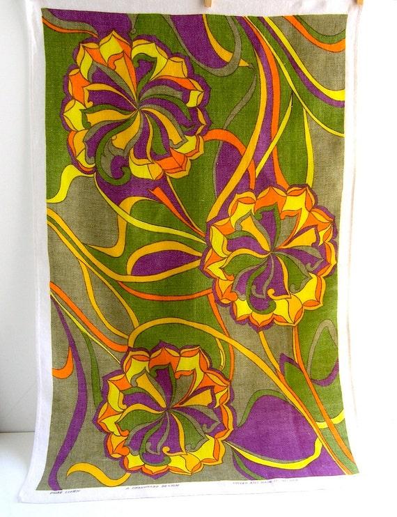 60s Linen Kitchen Towel Fragonard Design Ireland