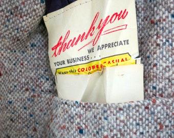 The Vintage Tan Brown Mens Tweed Blazer