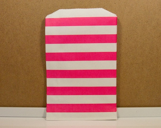 Horizontal Middy Bitty Bags - Hot Pink