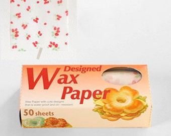 Season Wax Paper - Red Strawberries - Small
