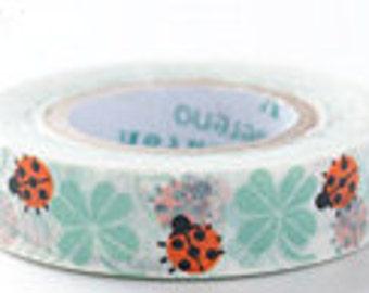 Shinzi Katoh Masking Tape - Ladybug - Discontinued
