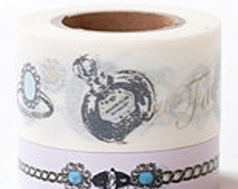 Tokyo Antique Masking Tape - French Scent - Wide Set 2