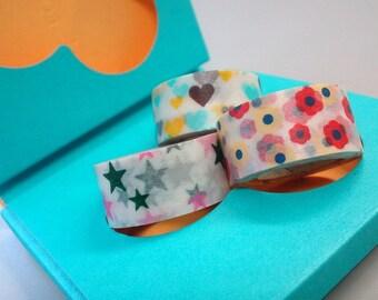 mt Washi Masking Tape - mt for kids - Flower, Heart & Stars - Set 3 - B