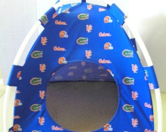 Large Handmade College Florida Gators Pup Tent Pet Bed for cats/ dogs/ferrets/ piggies/ A Toy Box / Barbie Doll House