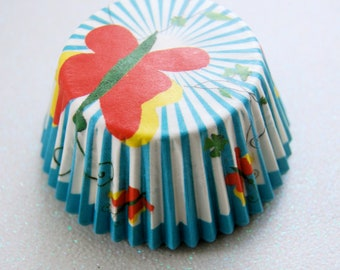 Blue Butterfly Cupcake Liners (50)