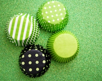 40 Assorted Lime Cupcake Liners