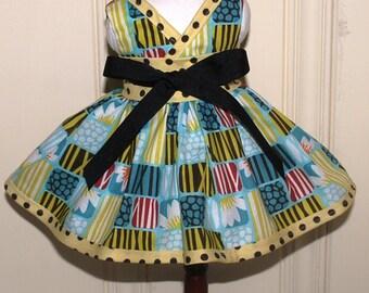 Waldorf doll dress or American Girl doll dress in Cloud9 organic cotton fabric