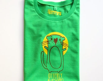 otterly awesome otter t-shirt