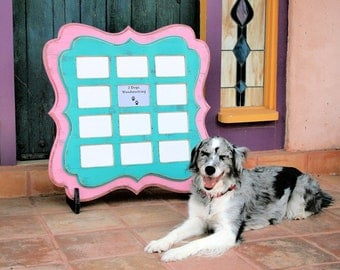 """Picture frame Twin Stacked Whimsical Multi 12 opening for 4x6 """"Whimsical Expressions"""" Multiple Collage """"Baby's first Year"""" Storyboard"""