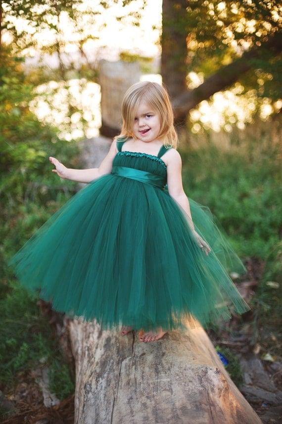 Sale 4t Hunter Green Tutu Dress Ready To Ship
