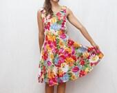 80's tutti frutti dress
