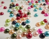 Mixed Half Pearl 4mm 1 Gross 144pcs Flatback Decoden Supplies