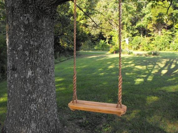 rope swing tree swing recycled reclaimed rustic lumber. Black Bedroom Furniture Sets. Home Design Ideas