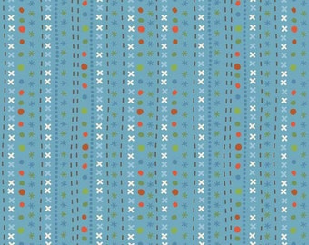 Scoot Blue Stripes by Deena Rutter for Riley Blake Designs