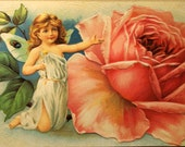 4 Victorian Angel / Fairy Postcards Reproductions from Antique Chromolithographs.