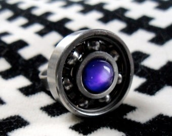 FREE SHIPPING - upcycled roller derby bearing adjustable ring