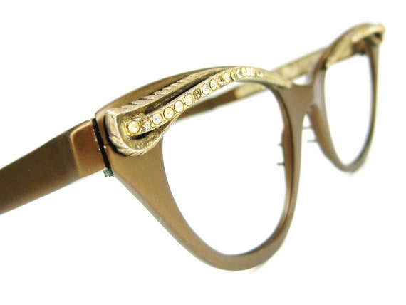Vintage 50s Cat Eye Eyeglasses Tura Winged  Frame  NOS