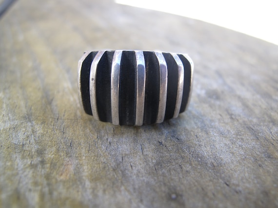 1960's Signed Anna G. Eker Hand crafted Norweigan Sterling Silver Ring 925
