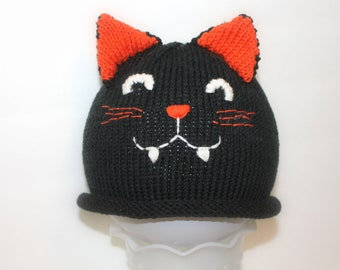Pattern - Halloween Cat Hat Knitting Pattern