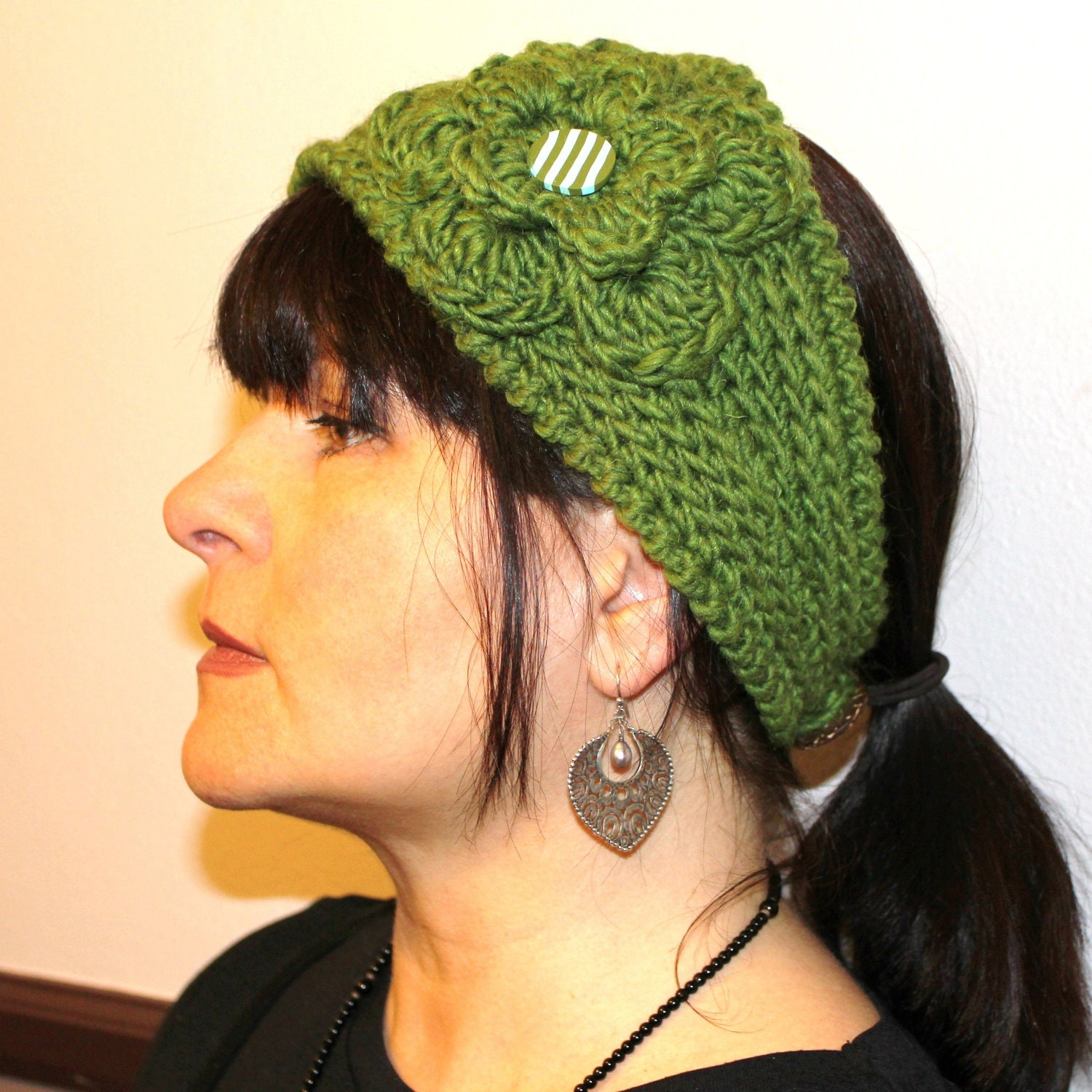 Free Crochet Headband Patterns : CROCHET PATTERN Fast Crochet Headband Kayla Bulky Weight
