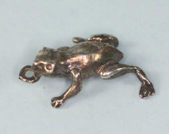 Sterling Silver Frog Charm Figural Vintage