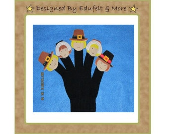 NEW - Five Little Pilgrims- Finger Puppets - Teacher Resources