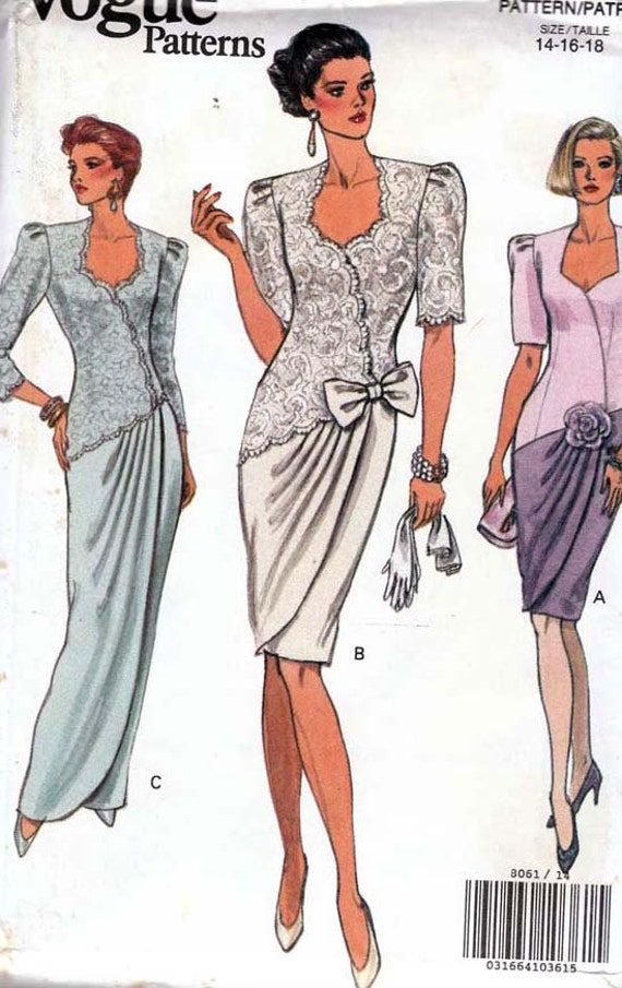 Vogue 8061 Misses Formal Dress Sewing Pattern Uncut